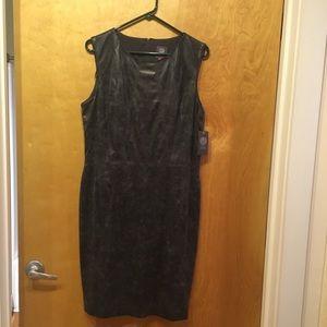 Vince Camuto Shiny Pleather Sheath Dress Size 14